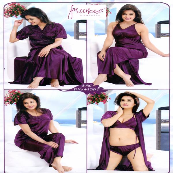 Fashionable Six Part Nighty 4138 C