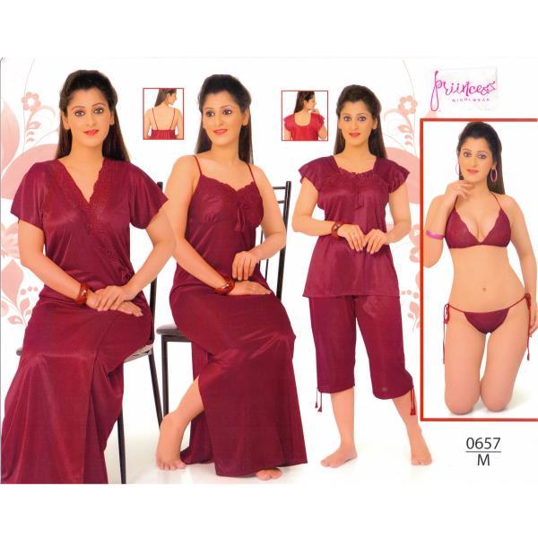 Fashionable Six Part Nighty-0657 M