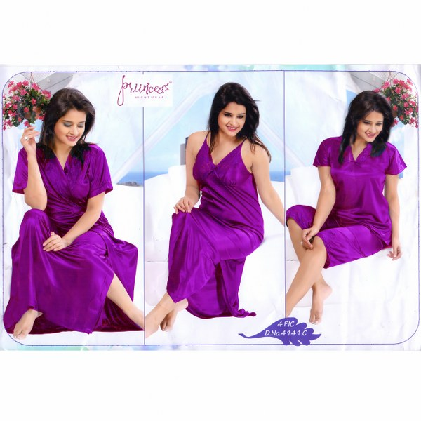 Fashionable Four Part Nighty-4141 C
