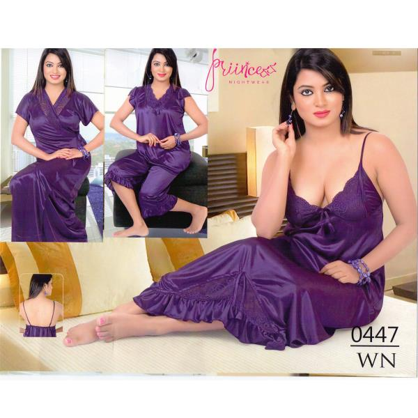 Fashionable Four Part Nighty-0447 WN