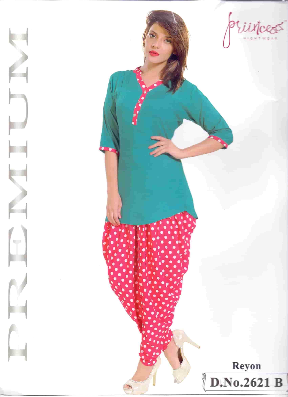 Fashionable Dhuti Kurti-2621 B