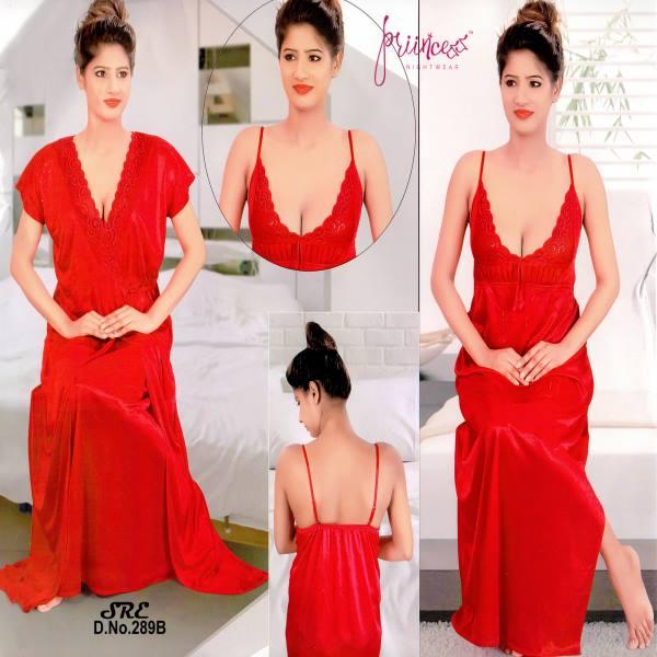Fashionable Two Part Night Dress-289 B