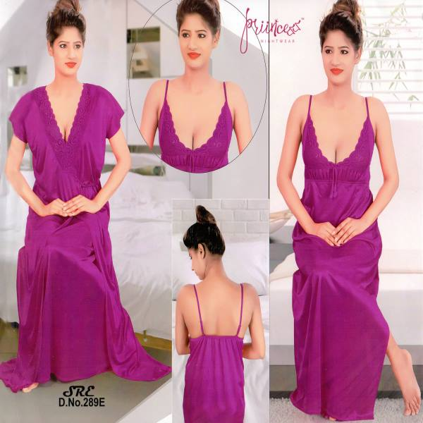 Fashionable Two Part Night Dress-289 E