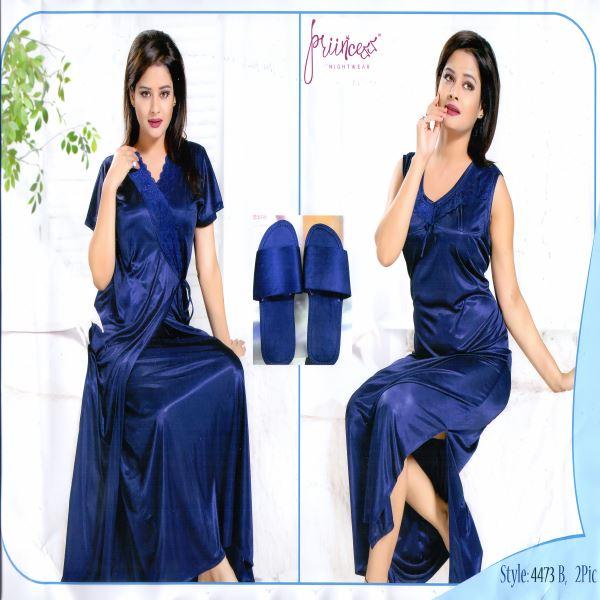 Fashionable Two Part Night Dress-4473 B