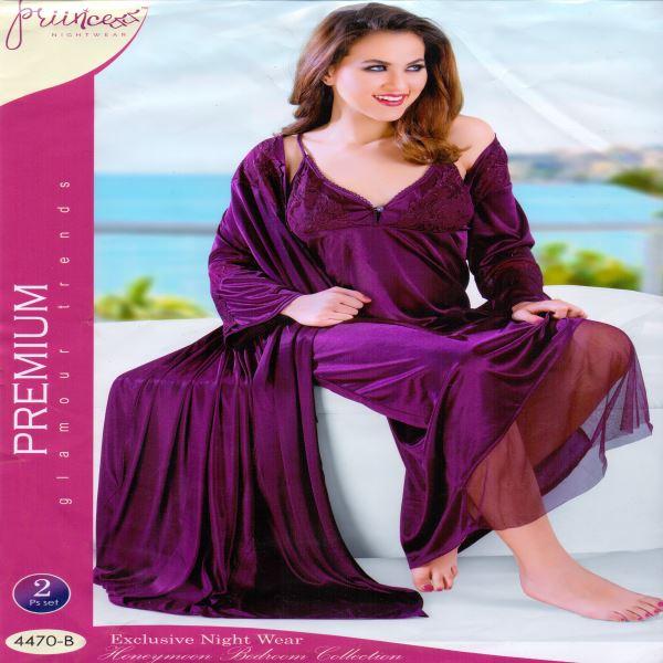 Fashionable Two Part Night Dress-4470 B