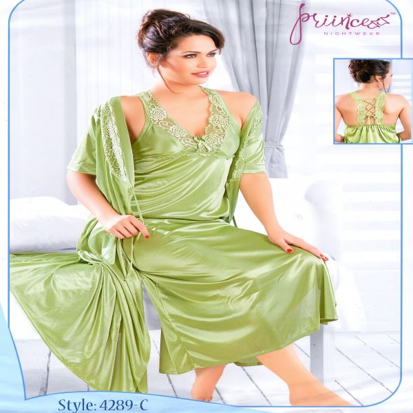 Fashionable Two Part Night Dress-4289 C