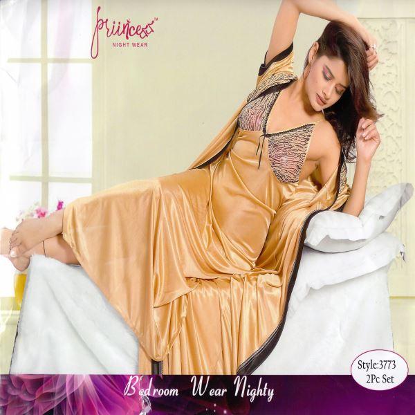 Fashionable Two Part Night Dress-3773