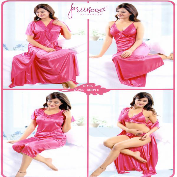 Fashionable Six Part Night Dress-4601 E