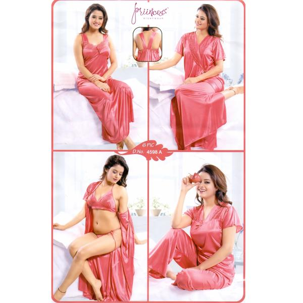 Fashionable Six Part Nighty-4598 A