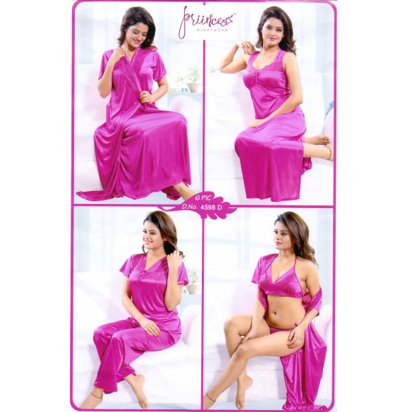 Fashionable Six Part Nighty-4598 D