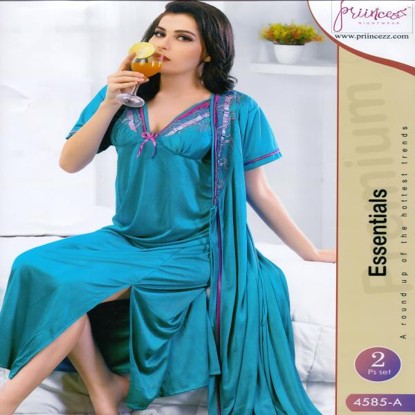 Fashionable Two Part Night Dress-4585 A