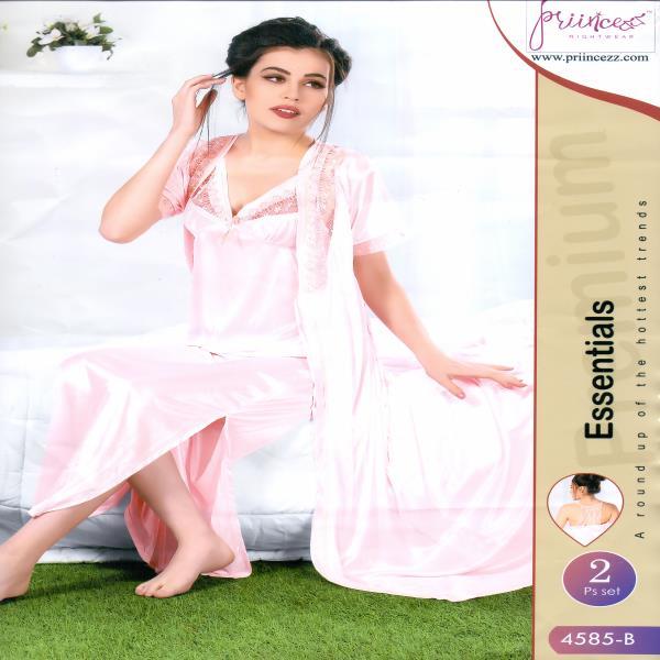 Fashionable Two Part Night Dress-4585 B