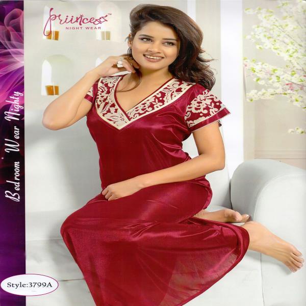 Stylish One Part Night Dress-3799 A