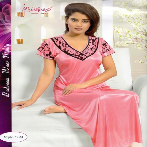 Stylish One Part Night Dress-3799