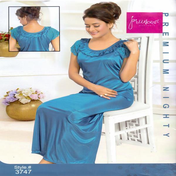 Fashionable One Part Night Dress-3747