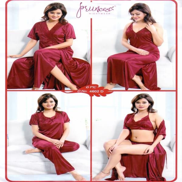 Fashionable Six Part Nighty-4602 D