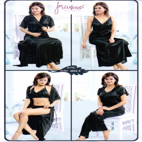 Fashionable Six Part Nighty-4602 E