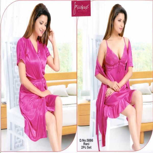 Stylish Two Part Nighty-5886 Rani