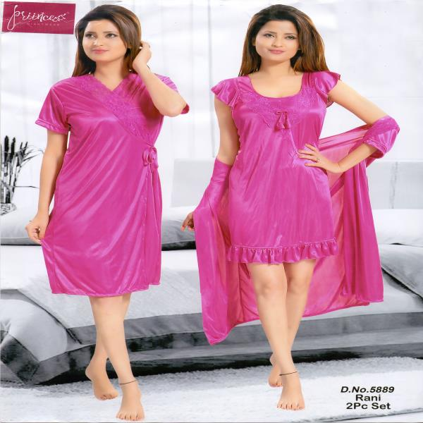 Stylish Two Part Nighty-5889 Rani