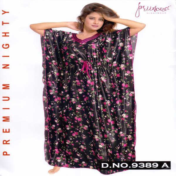Fashionable Satin Kaftan-9389 A