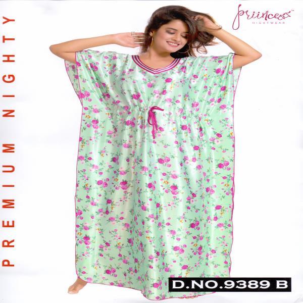 Fashionable Satin Kaftan-9389 B