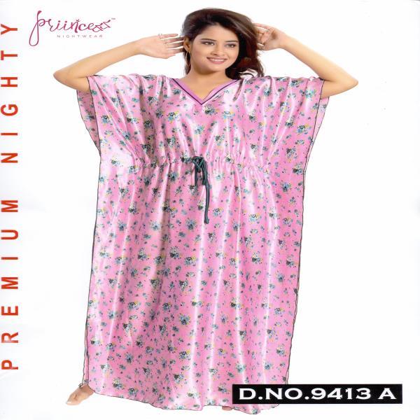 Fashionable Satin Kaftan-9413 A