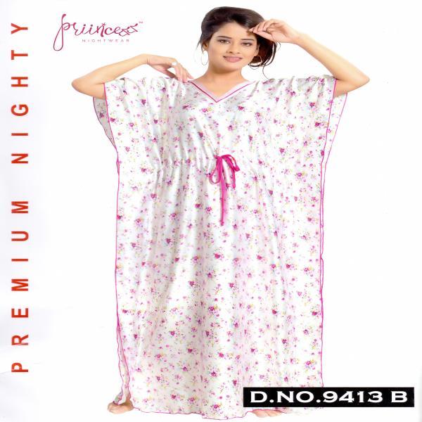 Fashionable Satin Kaftan-9413 B