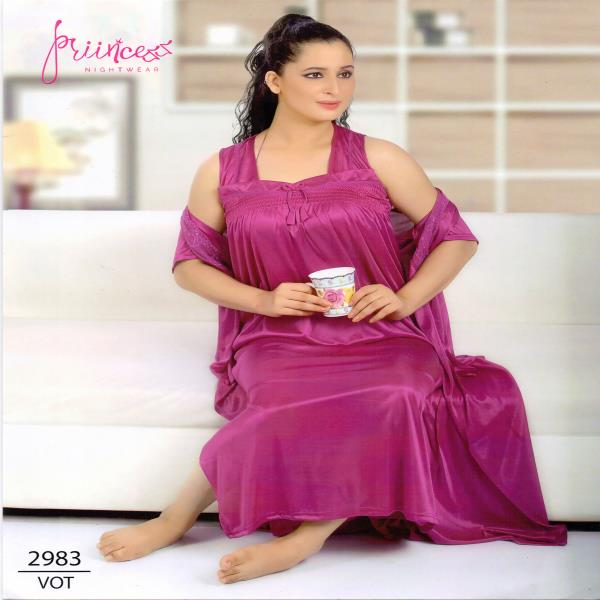 Stylish Two Part Night Dress-2983 VOT