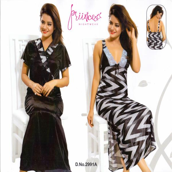 Stylish Two Part Night Dress-2991 A