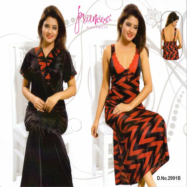 Stylish Two Part Night Dress-2991 B