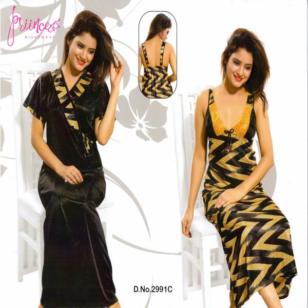 Stylish Two Part Night Dress-2991 C