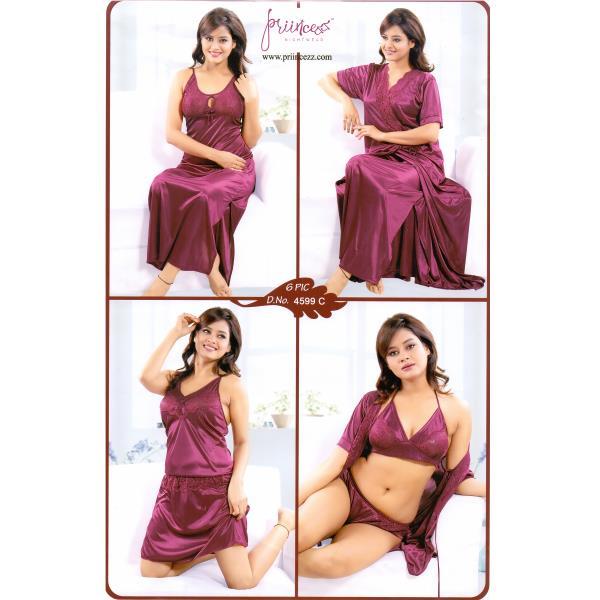 Fashionable Six Part Nighty-4599 C