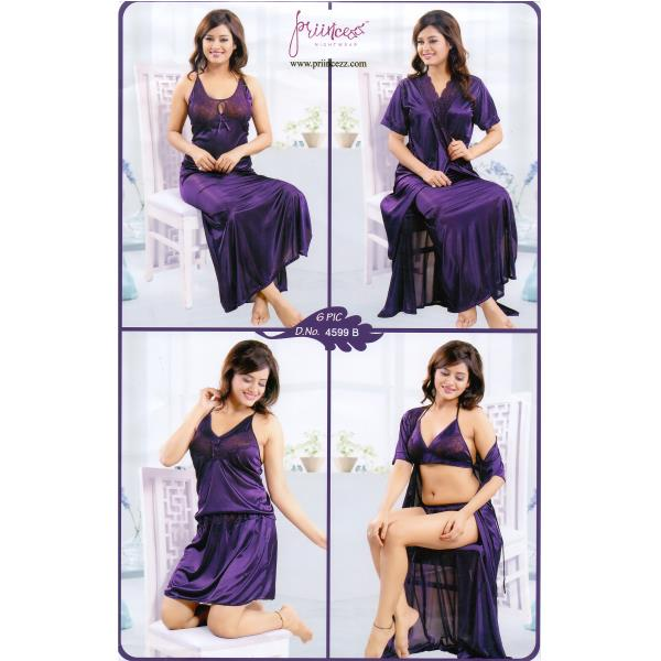 Fashionable Six Part Nighty-4599 B