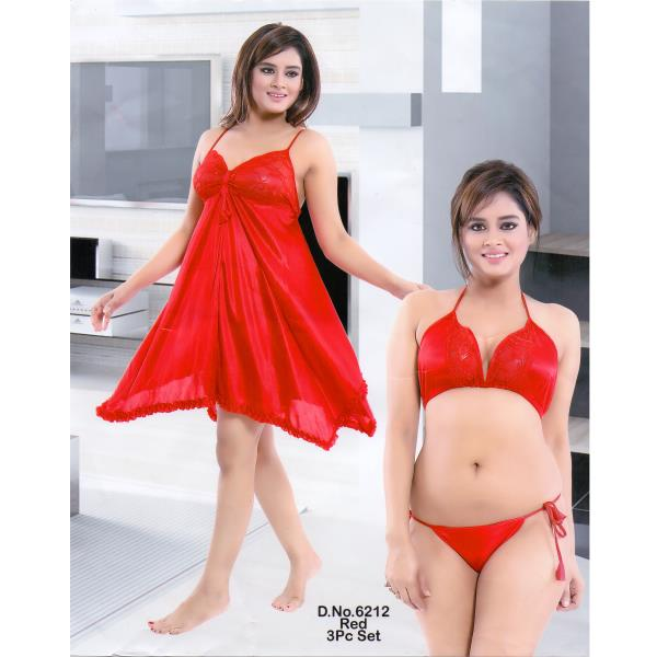 Fashionable Hot Nighty-6212 Red
