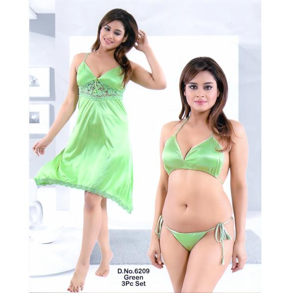 Fashionable Hot Nighty-6209 Green