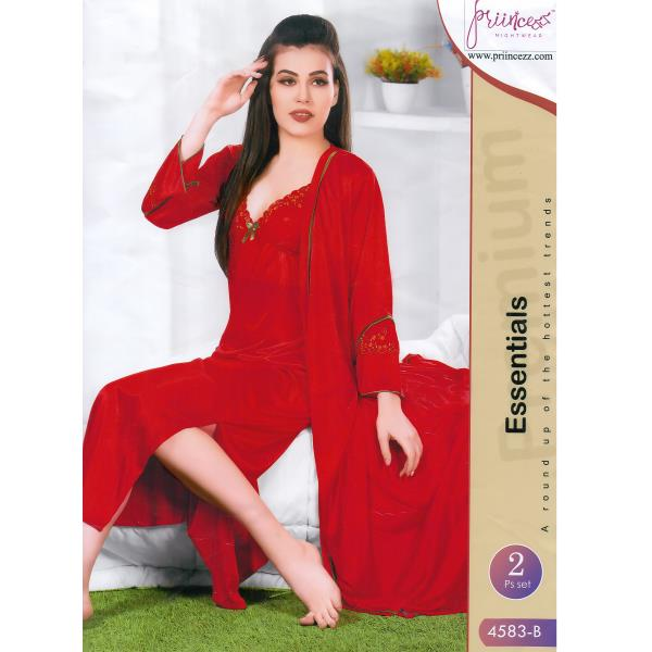 Fashionable Two Part Nighty-4583 B