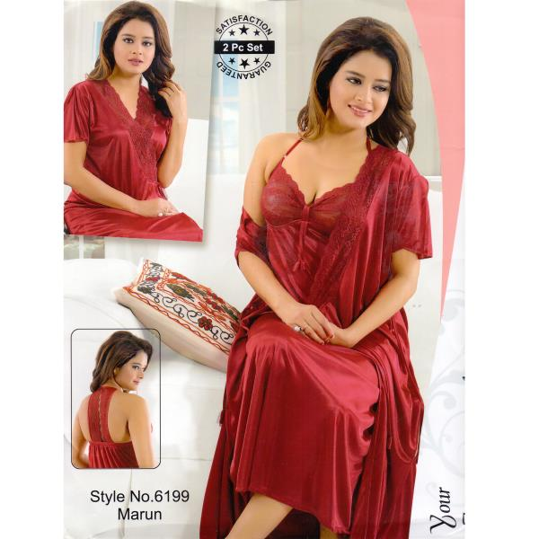 Two Part Nighty-6199 Maroon