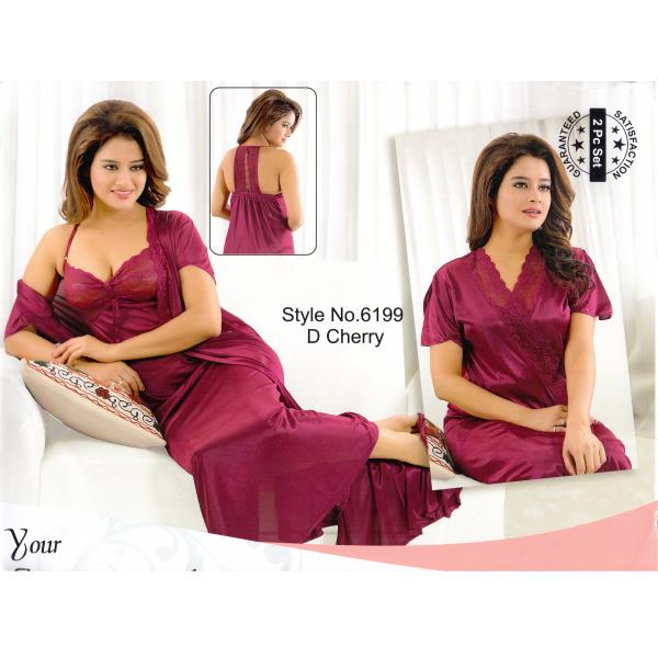 Two Part Nighty-6199 D Cherry