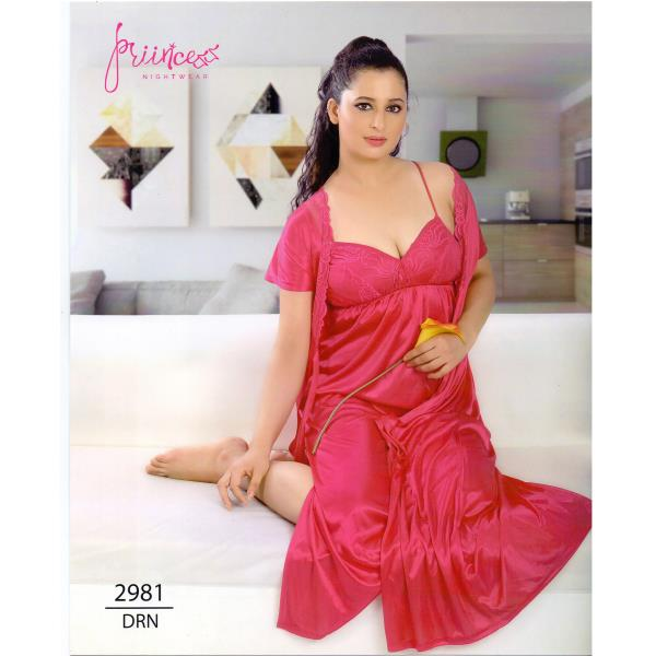 Fashionable Two Part Nighty-2981 DRN