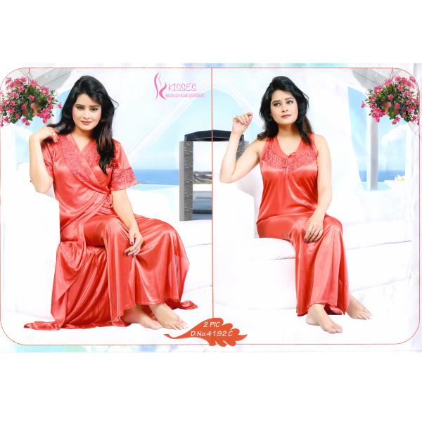 Fashionable Two Part Nighty-4192 C