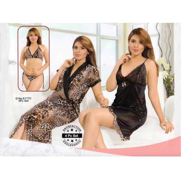 Fashionable Four Part Nighty-6177 C