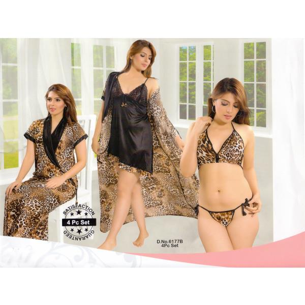 Fashionable Four Part Nighty-6177 B