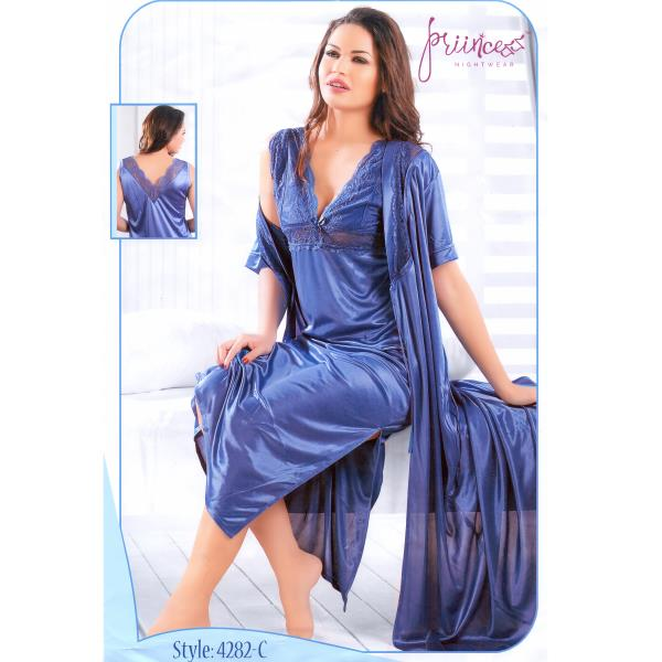 Fashionable Two Part Nighty-4282 C