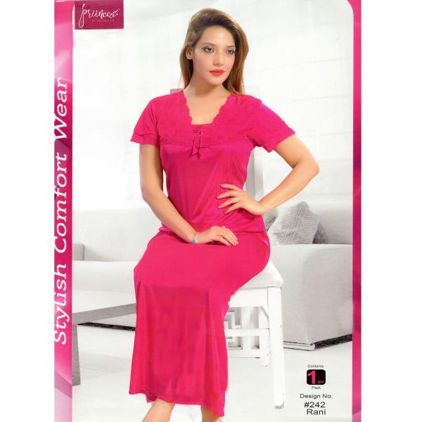 Stylish One Part Nighty-242 Rani