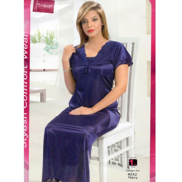 Stylish One Part Nighty-242 Navy