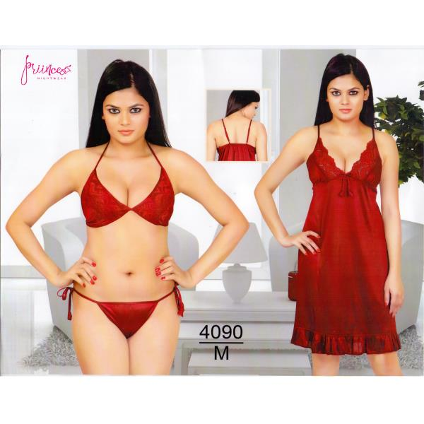 Fashionable Three Part Nighty-4090 M