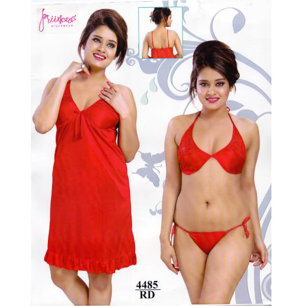 Fashionable Hot Nighty-4485 RD