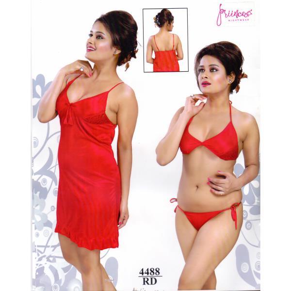 Fashionable Hot Nighty-4488 RD
