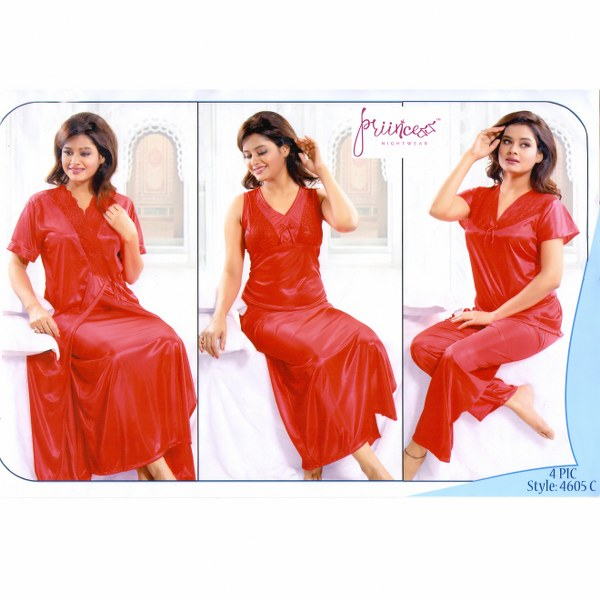 Fashionable Four Part Nighty-4605 C