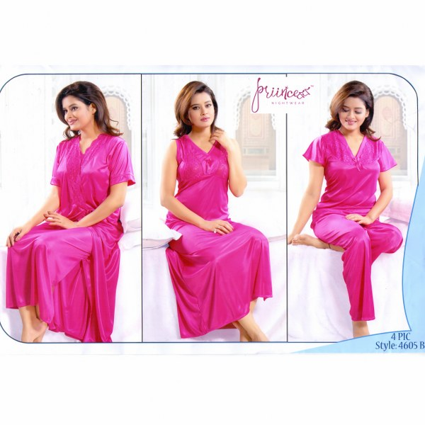 Fashionable Four Part Nighty-4605 B